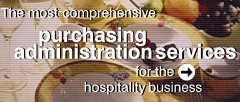 purchasing administration services for the hospitality business
